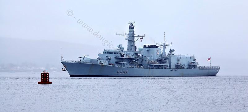 HMS Montrose (F236) - Off Rhu Spit - 3 May 2013