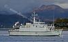 HMS Shoreham (M112) Departing Faslane