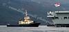 Svitzer Milford Assists HMS Ark Royal at Glen Mallon