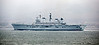 HMS Illustrious Passing Cloch Lighthouse - 6 March 2013
