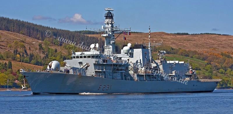 HMS Argyll - F231 - Royal Navy Type 23 Frigate