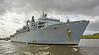 'HMS Bulwark' passing Clydebank - 2 May 2016
