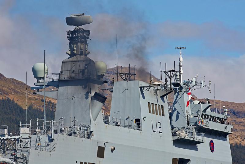 HMS Ocean Off Glen Mallan - 25 April 2015