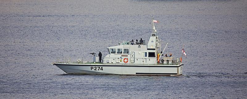 HMS Tracker (P274) at Faslane Naval Base - 25 February 2021