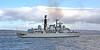 HMS Liverpool (D92) passing Port Glasgow - 24 February 2012
