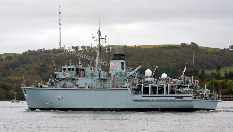 HMS Middleton - Leaving Faslane