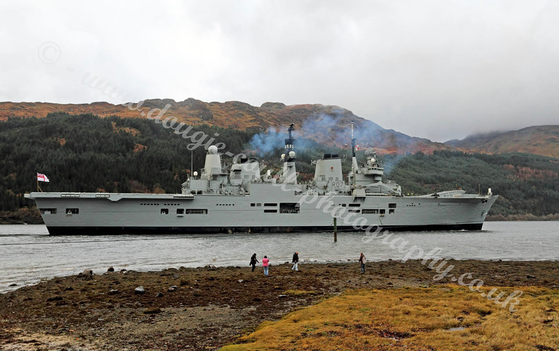 Enthusiasts Gather to Watch Ark Royal Berth