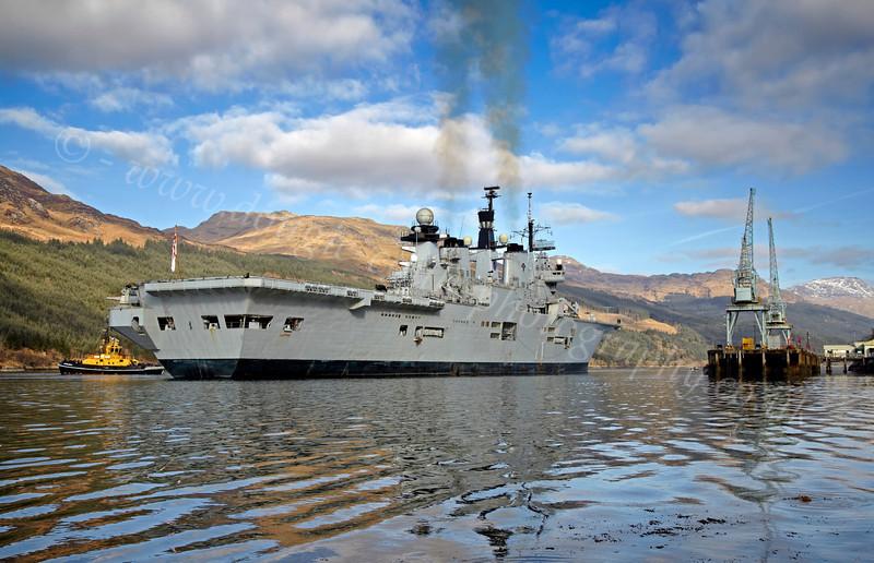 HMS Illustrious - Off Glen Mallan - 1 March 2013
