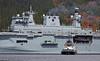 HMS Ocean and SD Reliable Off Glen Mallan - 28 April 2015