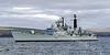 HMS Edinburgh - D97- Passing Port Glasgow