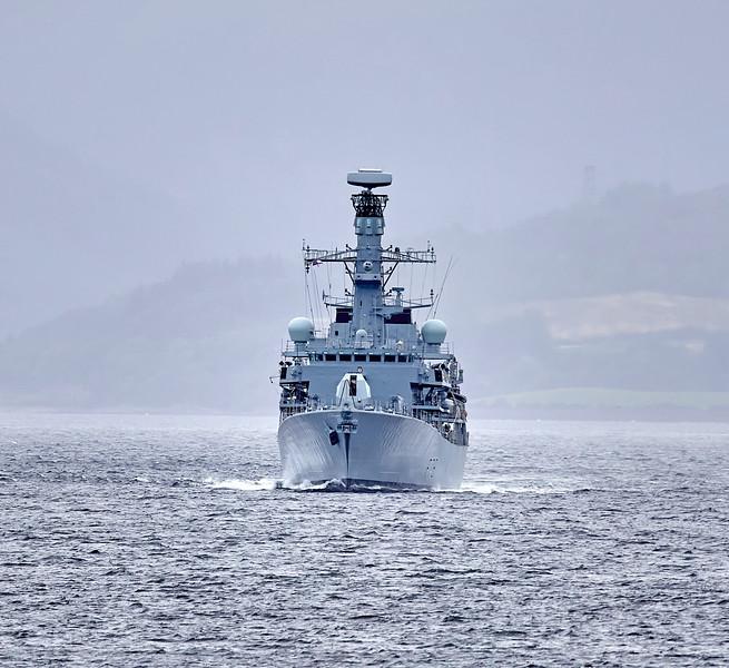 HMS Kent (F78) off Cloch Lighthouse - 10 September 2018