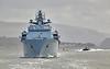 'HMS Bulwark' passing Dumbarton - 2 May 2016