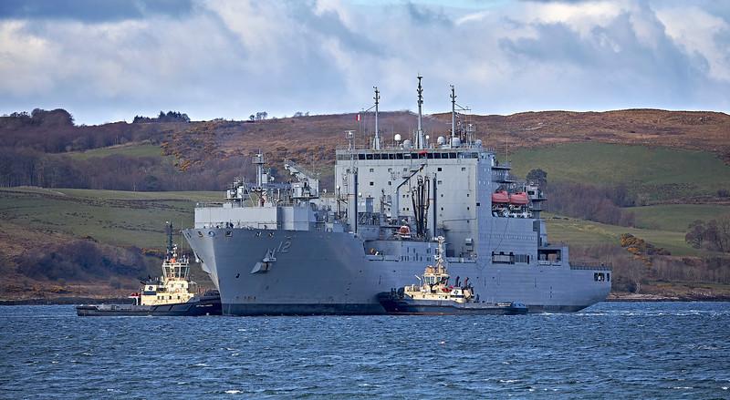 USNS William McLean (T-AKE-12) off Hunterston - 6 April 2021