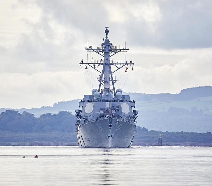 USS Winston S Churchill (DDG-81) at Rhu Spit - 20 August 2018