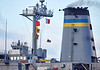 Raising the Flag Aboard the USNS Big Horn (T-AO-198) at Loch Striven Jetty - 10 October 2018