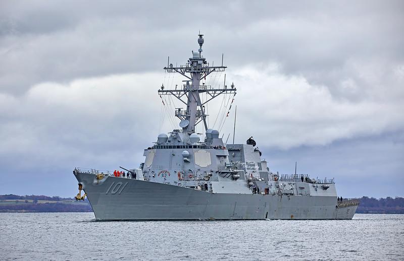 USS Gridley (DDG-101) at Rhu Spit - 11 November 2019