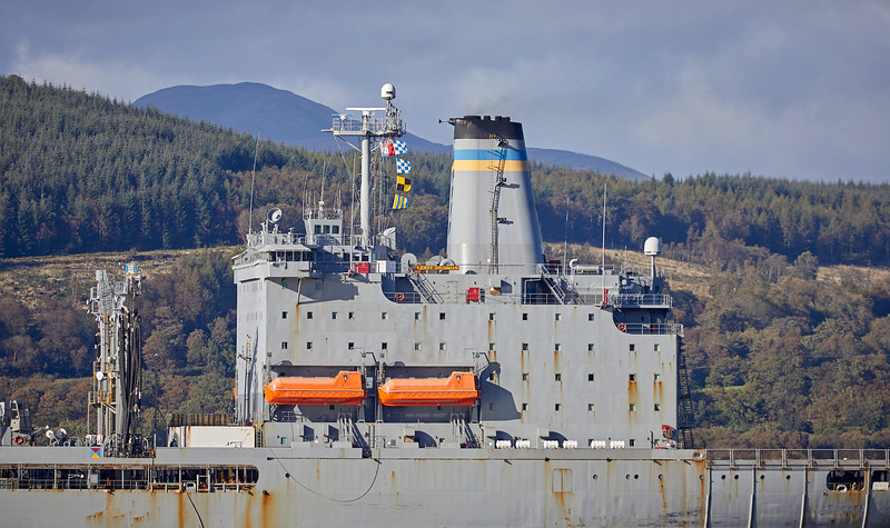 USNS Leroy Grumman (T-AO-195) at Gourock - 21 September 2018