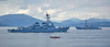 USS Winston S. Churchill (DDG-81) and USS Farragut (DDG-99) at Cloch Lighthouse, Gourock - 12 July 2018