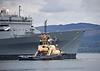 Anglegarth with the USNS Supply (T-AOE-6) at Greenock - 26 May 2021