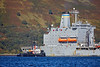 USNS Leroy Grumman (T-AO-195) at Loch Striven Jetty - 12 September 2018