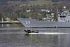 USS Kauffman with MOD Rib at Faslane
