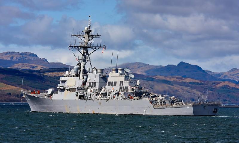 USS Barry (DDG-52) at Rhu Spit - 20 April 2010