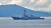 USS Farragut (DDG-99) at Cloch Lighthouse, Gourock - 12 July 2018