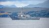 USS  Winston S Churchill (DDG-81) at Cloch Lighthouse, Gourock - 16 July 2018