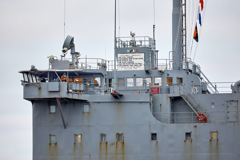 USNS Laramie (T-AO-203) at Loch Striven Jetty - 17 October 2020