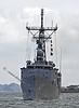 USS Nicholas rounds Garvel Bend