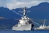 USS Stout - DDG55 - Departing Faslane Naval Base
