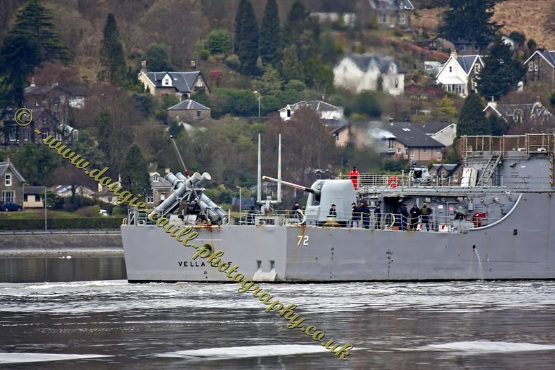 USS Vella Gulf (CG 72) - Heads up to Berth