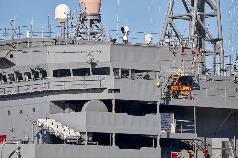 USNS Supply (T-AOE-6) at Loch Striven Jetty - 14 April 2021