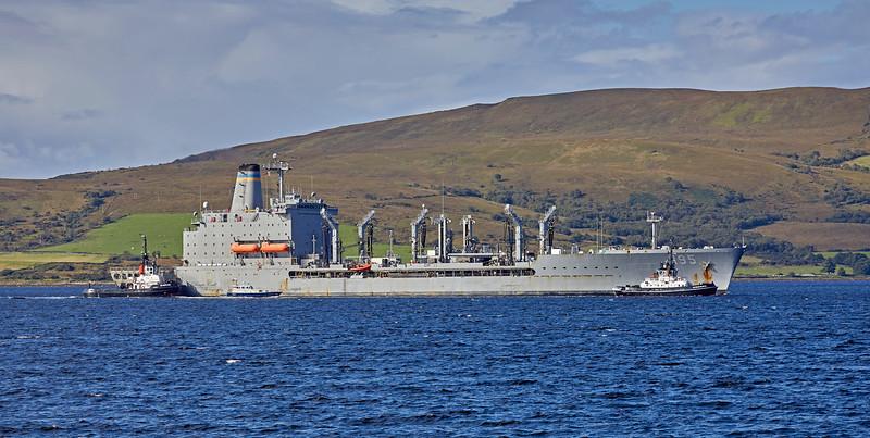 USNS Leroy Grumman (T-AO-195) at Loch Striven Jetty - 12 September 2018