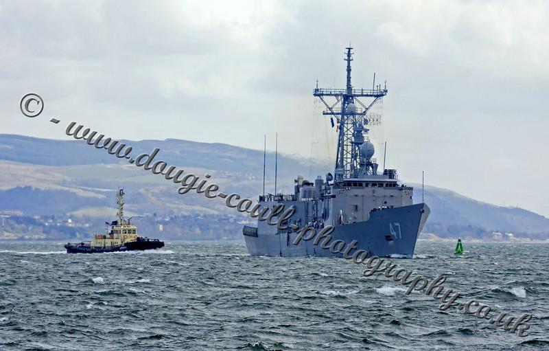 USS Nicholas - Tug Warrior III in Attendance