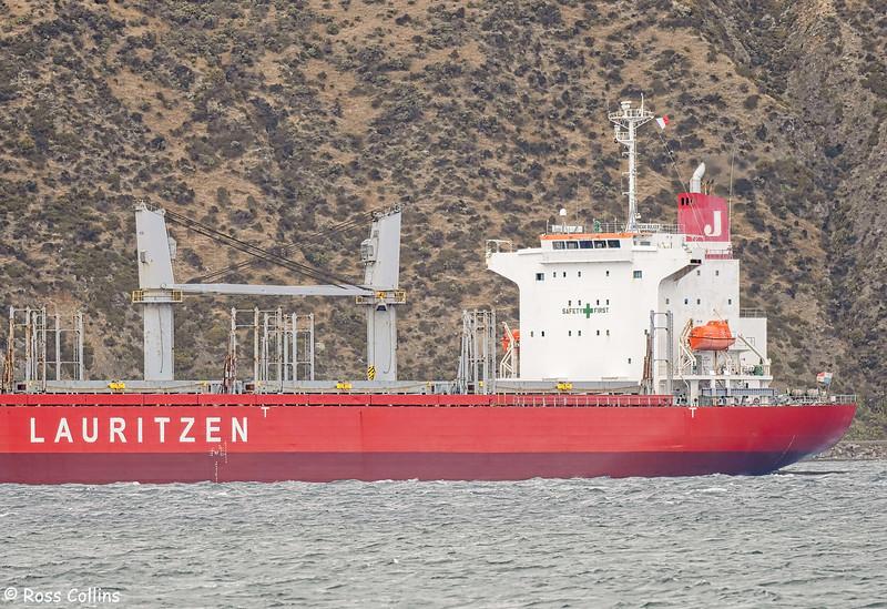 'American Bulker' arriving at Wellington, 3 March 2021