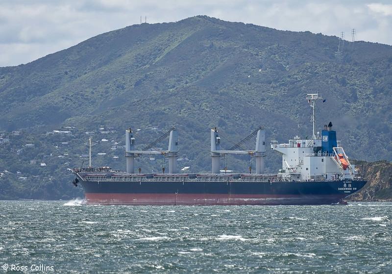 'Dancewood SW' arriving at Wellington, 6 December 2020