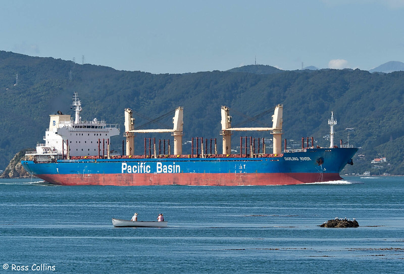 'Darling River' departing from Wellington, 26 February 2020