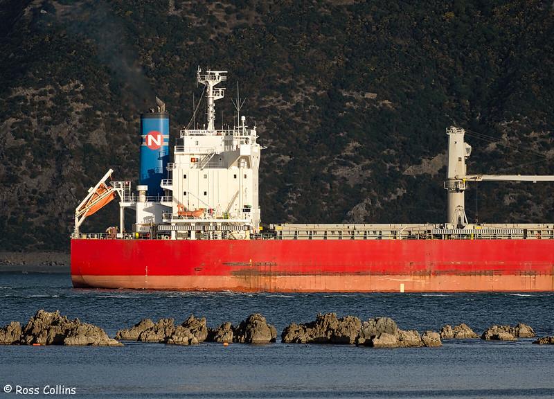 'Navios La Paix' departing from Wellington, 21 January 2021
