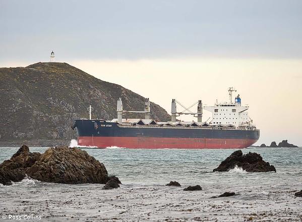 'Van Star' arriving at Wellington, 6 June 2020