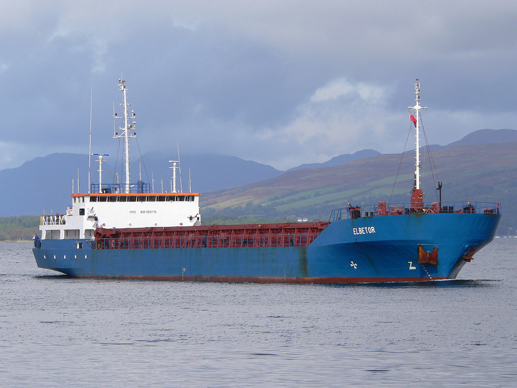 ELBETOR, Flag: Antigua, 2,351 GRT, River Clyde October 2008