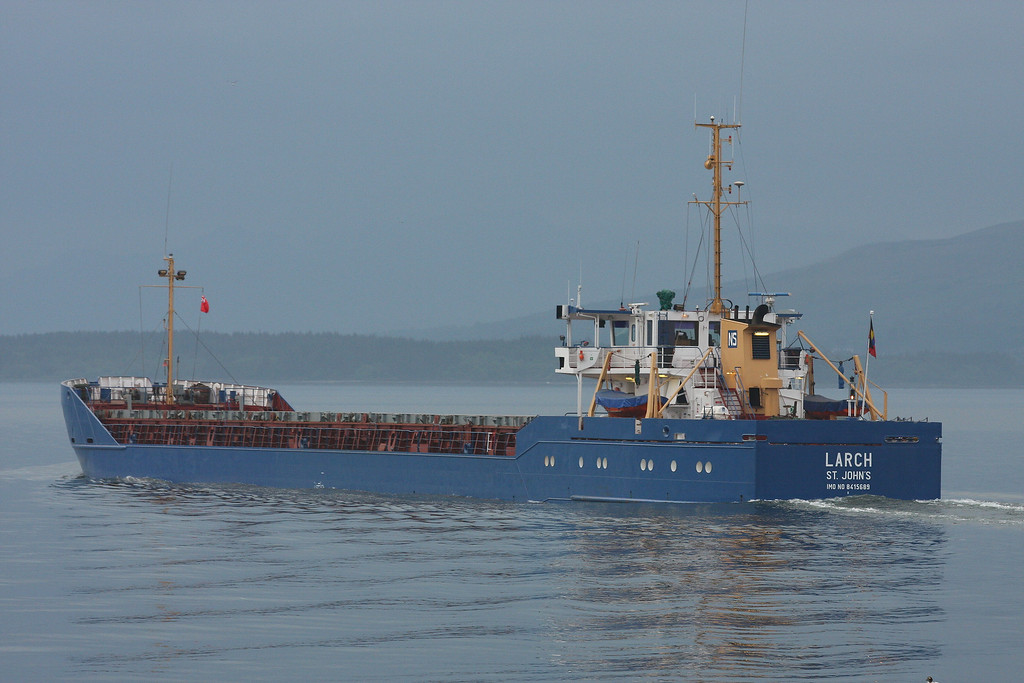 LARCH, Flag: Antigua, 2,119 GRT, River Clyde May 2010