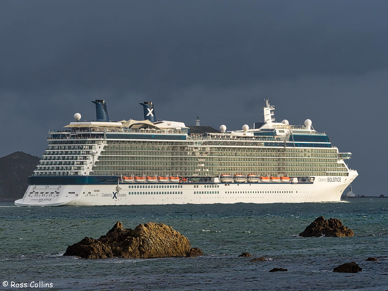 'Celebrity Solstice' departs from Wellington, 21 February 2018
