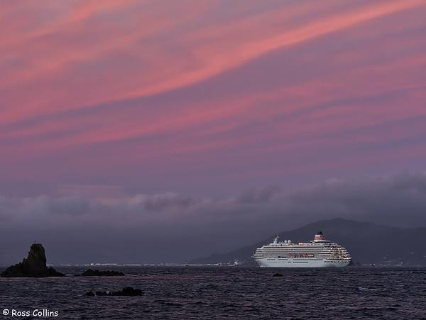 'Asuka II' arriving at Wellington on 17 February 2018