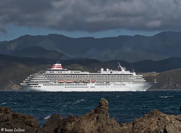 'Asuka II' departing from Wellington on 18 February 2018