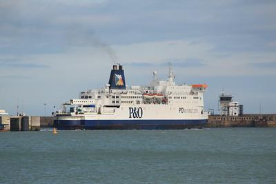 PRIDE OF BURGUNDY IMO:9015254 28138gt - Leaving Dover 11.10.11