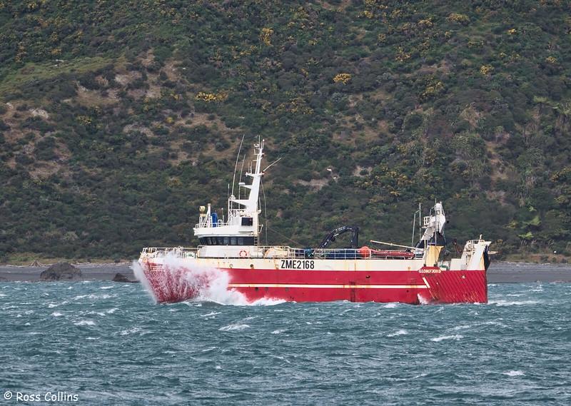 'Glomfjord' arriving into Wellington Harbour, 7 November 2017