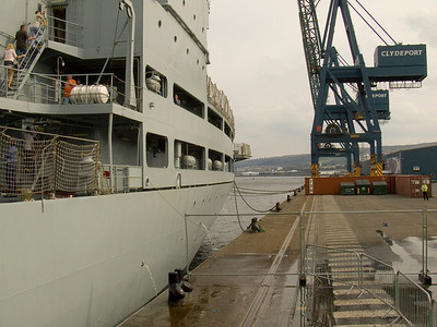 Quay side at Clydeport Container Terminal