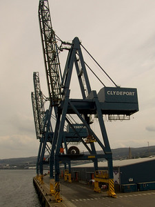 The cranes at the Container Terminal