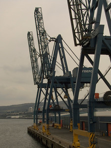 Cranes at Clydeport Container Terminal